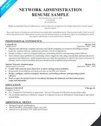 Charming Ideas Network Administrator Resume Sample Network