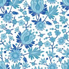 Blue China Pattern Awesome Seamless Blue China Pattern Royalty Free Cliparts Vectors And