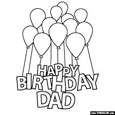 Small Picture Happy Birthday Dad Coloring Page