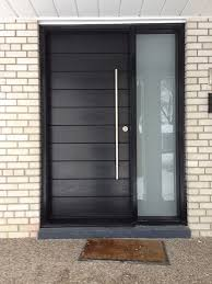 Front Entrance Door-Modern Door- Entry Front Door-Modern Fiberglass Door  Frosted side