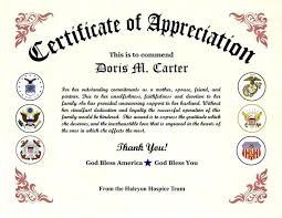 Military Certificate Of Appreciation Template Beauteous Air Force Certificate Of Appreciation Template Buildingcontractorco