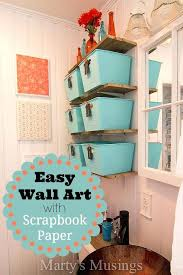 easy wall art with sbook paper painting ideas