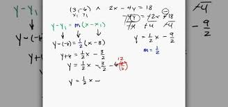 the equation of a line given 1 point