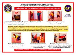 Правила поведения при пожаре и взрыве При использовании