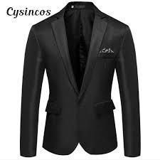 <b>CYSINCOS Male</b> Suits Blazer <b>Slim</b> Business Formal Dress ...