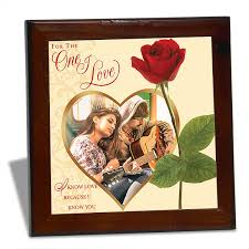 for the one i love personalised tile frame