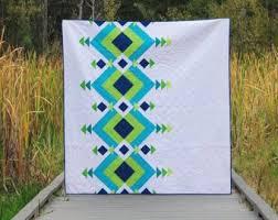 Modern Quilt Patterns Impressive Modern Quilt Pattern Etsy