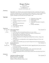 Resume Fast Food Fast Food Manager Resume To Inspire You How To
