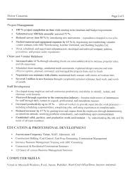 Management Construction Manager Resume Example