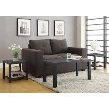 Three Piece Living Room Table Set Altra Furniture Coffee Table And End Table Set In Black 3 Piece