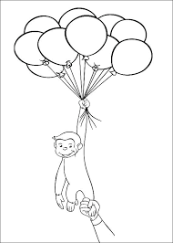 Curious George Coloring Pages To Print Curious Coloring Sheet