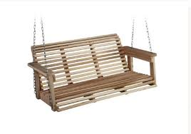 front porch swing outdoor set wood wooden seat hanging chain chair s patio