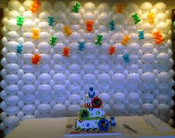 interior: Enhancing Interior Room Decoration Idea For Birthday Party With  Affordable Baloon Wall Also Tasteful