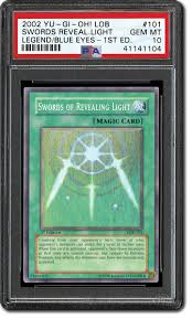 Swords Of Revealing Light 1st Edition Psa Set Registry Collecting The 2002 Yu Gi Oh Legend Of