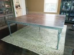 Custom Made Gray Wash Trestle Table Wextensions Available In