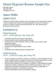 Dental Hygiene Resume Fascinating Sample Dental Hygienist Resumes Kenicandlecomfortzone