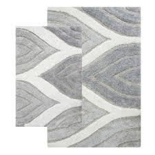 chesapeake merchandising davenport gray two piece bath rug set