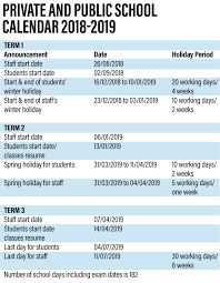 UAE school term dates for 2018-2019 announced - The National