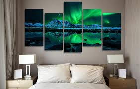 northern lights aurora borealis 5 piece canvas wall art print limited edition on interior design canvas wall art with northern lights aurora borealis 5 piece canvas wall art print