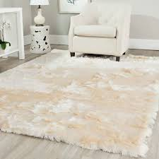 safavieh handmade silken glam paris shag ivory rug ('x') by