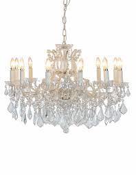 12 branch shallow antique le white chandelier