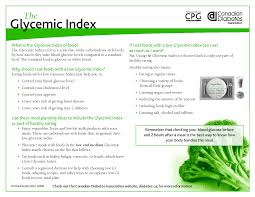 Glycemic Index Food Chart Canada Low Glycemic Index Foods Glycemic Index Pdf Low