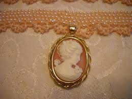 custom made pink cameo pearl choker necklace set
