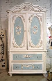 white wood wardrobe armoire shabby chic bedroom. Armoire Wardrobe · Painted Cottage Chic Shabby White Wood Bedroom B