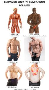 Body Fat Percentage Comparisons For Men Women