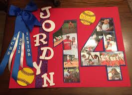 Senior Night Softball Poster Diy Crafts Pinte