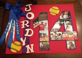 senior night softball poster more