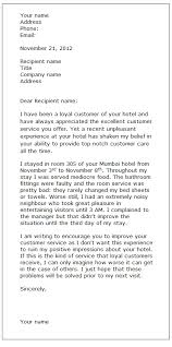 complaint letter examples complaint letter sample formal letter samples