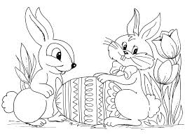 Printable Easter Bunny Eggs Coloring Pages Kids Glandigoartcom
