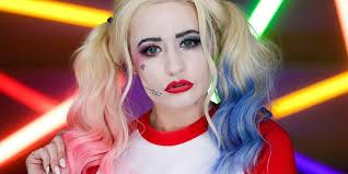 grunge harley quinn makeup tutorial harley quinn makeup tutorial inspired by margot robbie in squad huffington