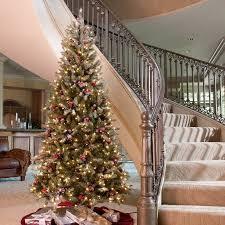 7.5 ft. Snowy Dunhill Slim Pre-Lit Christmas Tree - Walmart.com