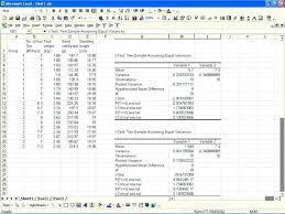 Excel Sample Variance For The Analysis Of T Test Two Sample Assuming ...
