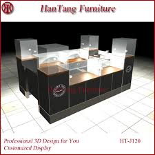 3d max design and mdf used jewelry display cases in mall