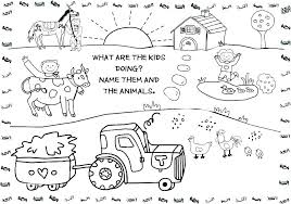 Farm Coloring Sheet Printable Farm Animal Coloring Page Animal