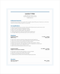 Painter Resume Adorable Painter Resume Samples Kazanklonecco