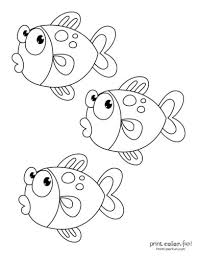 In this site you will find a lot of fish coloring picture in many kind of pictures. Top 100 Fish Coloring Pages Cute Free Printables Coloring Page Print Color Fun