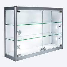 aluminium glass wall mounted display