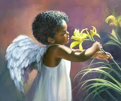 little black angel painting laurie hein black angel art prints