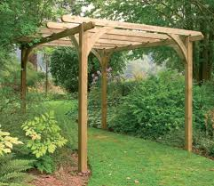 forest ultima wooden pergola kit 2 7 x 2 7m for