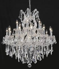 elegant 2801d30c ss maria theresa chandeliers 30in chrome 19 light