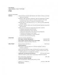 Technician Resume Sample Template Heavy Equipment Mechanic