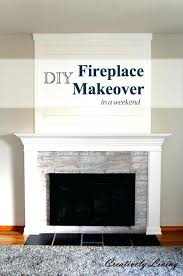 diy fireplace surround fireplace makeover in one weekend under fireplaces mantels painting wall decor diy electric