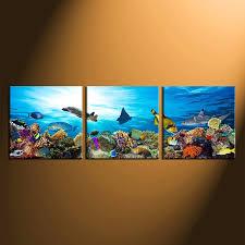 3 piece canvas wall art home decor fish huge canvas art wildlife group on turtle wall art painting with 3 piece canvas wall art fish large pictures turtle multi panel