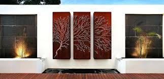 outdoor wall art ideas triptych outdoor wall decor outdoor wall art ideas australia