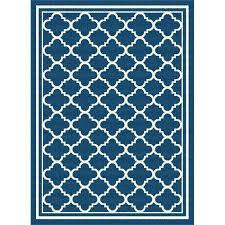 5 x 7 medium navy blue tile indoor outdoor rug garden 5x8 area rugs city