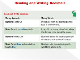 numeric form to word form with decimals lesson 2 reading and writing decimals ppt video online download